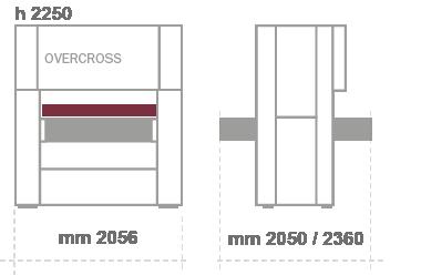 Unitek _ Excel Overcross levigatrice per legno misure