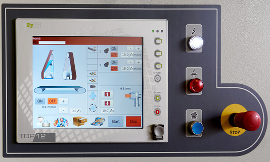 Unitek _ Excel Overcross levigatrice per legno touch screen